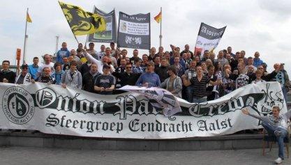 Supporters met de trein naar Oostende