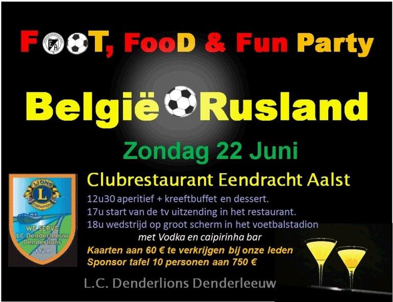 Geniet van een kreeftbuffet voor België-Rusland!