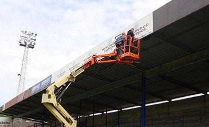 Renovatiewerken in stadion