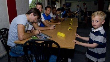 Kennismaking met spelers op Fandag