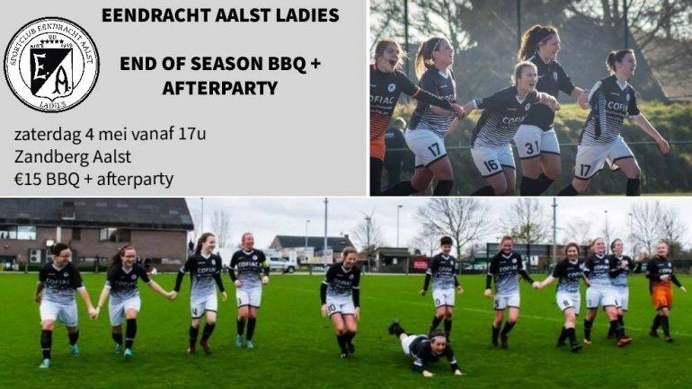 Ladies sluiten seizoen af met BBQ en afterparty